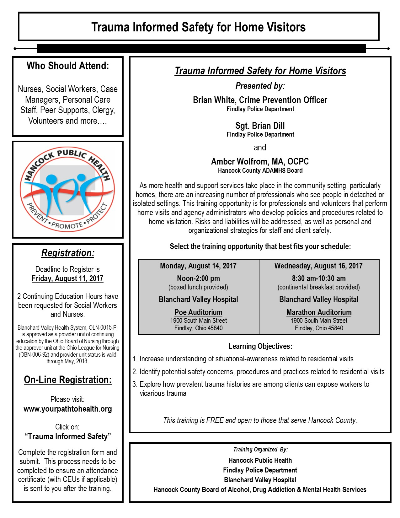 Trauma Informed Safety Hancock County Board Of Alcohol Drug